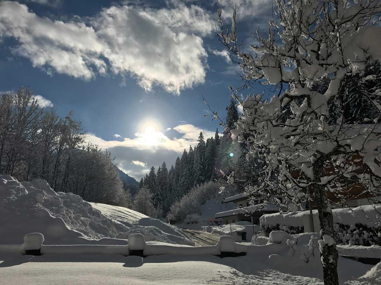 Schneelandschaft in Österreich